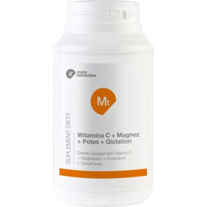 Witamina C + Magnez + Potas + Glutation, Invex Remedies, 450g